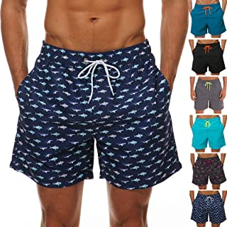AGRBLUEN Men Drawstring Casual Beach Shorts Swimming Summer Short Pants Beach Trunks