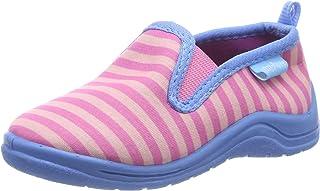 Playshoes Zapatillas Patrón de Rayas, Pantuflas Niñas