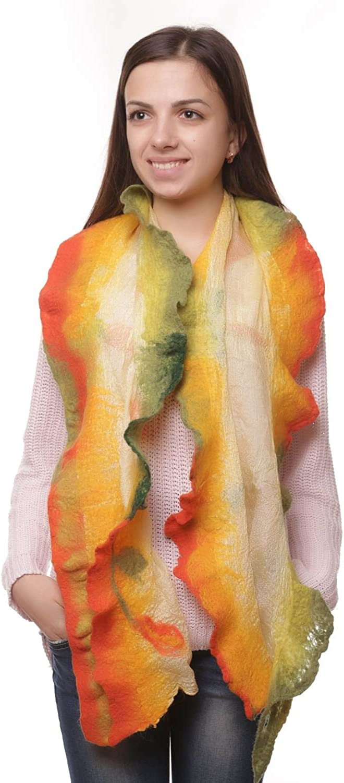 Silk Scarf With Felting Autumn