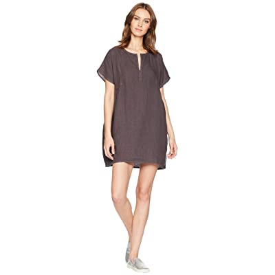 Allen Allen Solid Boxy Pullover Dress (Flint) Women