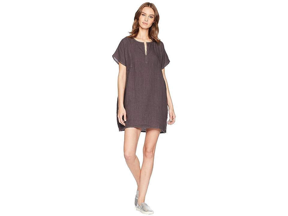 Allen Allen Solid Boxy Pullover Dress (Flint) Women