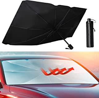 Maxpart Car Front Windshield Umbrella Sunshade Foldable Reflector Shade Block UV Rays and Heat from the Sun Fits Cars Truc...