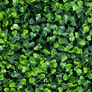 "Artificial Greenery Boxwood, Privacy Fence Screen Faux Plant, UV Resistant Topiary Hedge, for Outdoor Indoor Use as Wall Backdrop, Garden, Backyard, Event Decorations (20"" x 20"")"