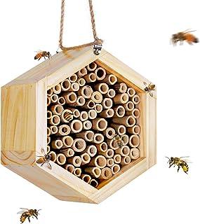 Hxezoc Mason Bee House Handmade Natural Bamboo Bee Hive Premium Beehive Professional Garden Supplies Enhance Your Garden's...