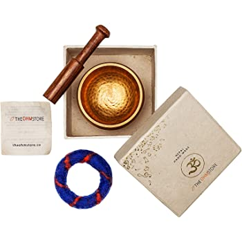 Tibetan Singing Bowl Set — Meditation Sound Bowl Handcrafted in Nepal for Healing and Mindfulness - With Gift Box