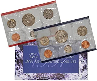 1997 Various Mint Marks P & D United States US Mint 10 Coin Uncirculated Mint Set Uncirculated