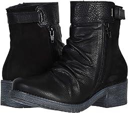 Soft Black Leather/Black Velvet Nubuck