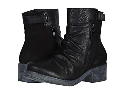 Naot Artsy (Soft Black Leather/Black Velvet Nubuck) Women