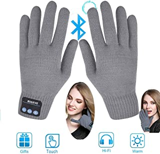 Bluetooth Gloves,Wireless Talking Gloves,Winter Gloves Touch Screen Gloves with Built-in Speakers,Removable Headphones for Music & Phone Calling,Best Gift for Thanksgiving Christmas Men Women (Grey)