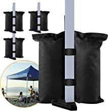 venrey 4 Pack Canopy Sandbags Weight Bags, Industrial Grade Heavy Duty Weights Bag Leg Weights for Pop up Canopy Tent, Pat...
