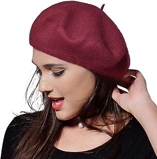 FURTALK Womens Winter Wool French Beret Tam Beanie Hat Cap Wool Beanie