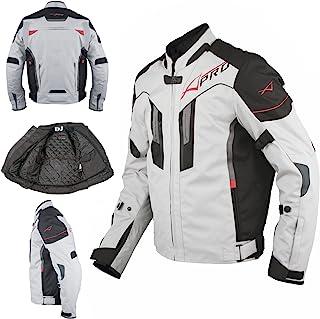 A Pro Textil Motorrad Jacke Wasserdichte CE Protektoren Reflektirende Grau 2X