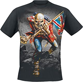 Iron Maiden TheTrooper Hombre Camiseta Negro, Regular