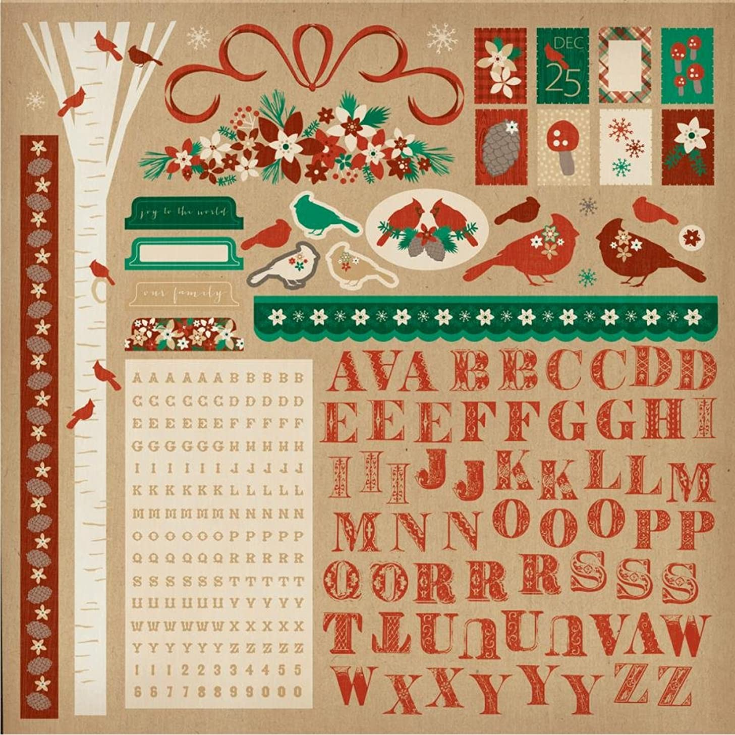 Kaisercraft Holly Bright Cardstock Stickers 12