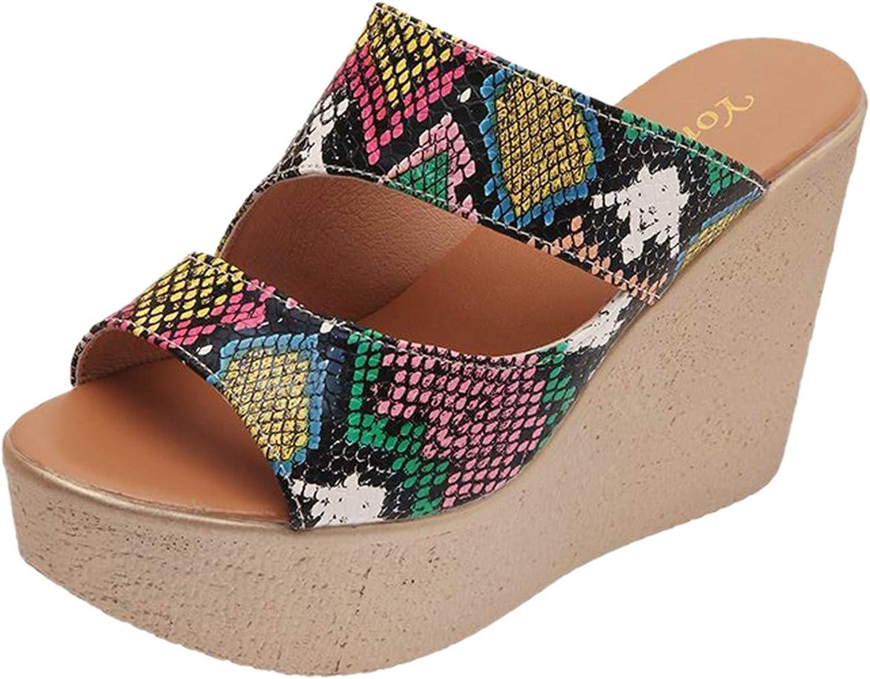 Ladies Summer Fashion Plus Size Slope Heel High Heel Platform Sa
