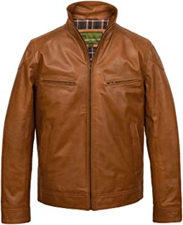 HIDEPARK Matt: Men's Tan Leather Jacket