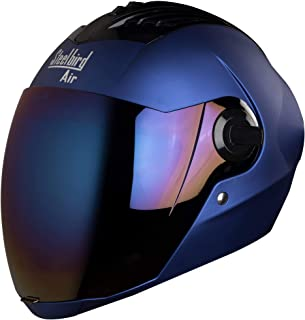 Steelbird SBA-2 Matt Full Face Helmet with Iridium Blue Visor (Blue, 600 mm)