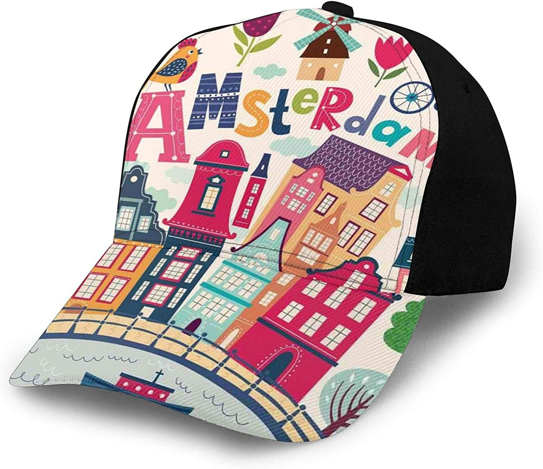 Womens Washed Baseball Caps High Messy Bun Ponytail Dad Hats Unisex Sun Hat