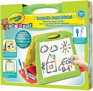 Crayola Mini Kids Ardoise eau et couleurs, double surface : blanc d'un côté et magique de l'autre, à partir de 36 mois, mu...