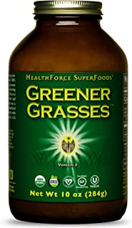 HealthForce SuperFoods Greener Grasses Alkalizer Powder - 10 oz - Vegan Greens Powder, Superfood Complex, Great Source of ...
