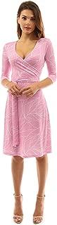 Women Faux Wrap A Line Dress