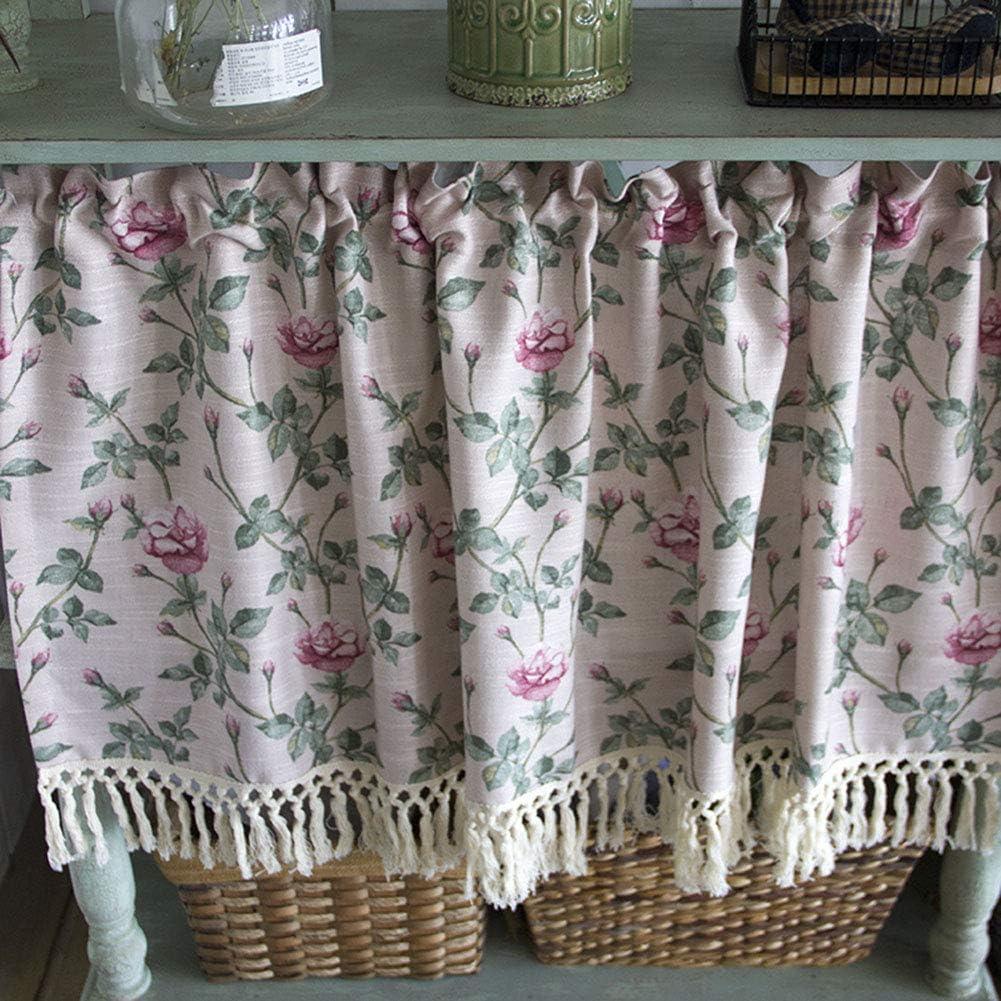 Max 73% OFF LDJ Kitchen Tier Curtains Vintage Curtain Half Cafe Reservation Bla Window
