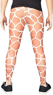 Patterned Meggings/Mens Leggings - Merman or Giraffe Print - Festival Pants