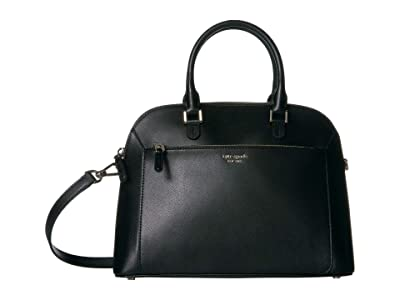 Kate Spade New York Louise Medium Dome Satchel (Black) Bags