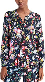 J.Crew Women's Silk Pleated Popover in Floral Print