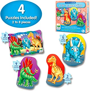 The Learning Journey My First 4-In-A-Box Puzzle – Dinosaur – Educational Toddler Toys & Gifts for Boys & Girls Ages 2 & Up