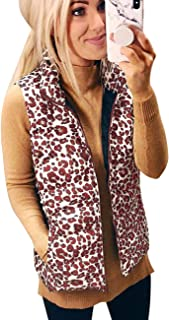 Women's Warm Lined Vest Sleeveless Lightweight Stand Collar Zip Quilted Gilet Padded Vest Cardigan Jacket with Pockets