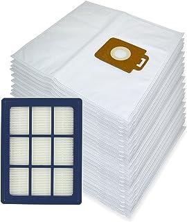 Spares2go – Bolsas de tela de microfibra + filtro HEPA H12 para aspiradoras Power P40 y Allergy de Nilfisk (20unidades + cartucho de filtro)