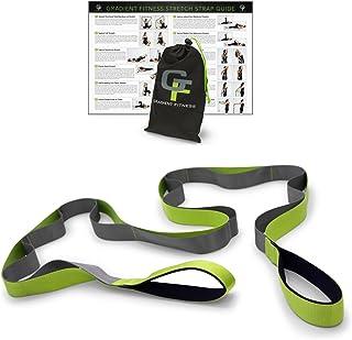Gradient Fitness Stretching Strap, Premium Quality Multi-Loop Strap, Neoprene Padded..