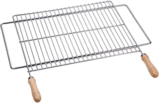 SAUVIC 8160400 - Parrilla Barbacoa Zincada Extensible 600x400 mm