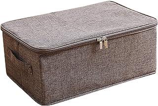 収納ボックス 収納ケース ふた付き 折りたたみ 大容量 カラーボックス 整理箱 小物入れ おもちゃ箱 書類 衣類 クローゼット収納 押入れ収納(M ブラウン)