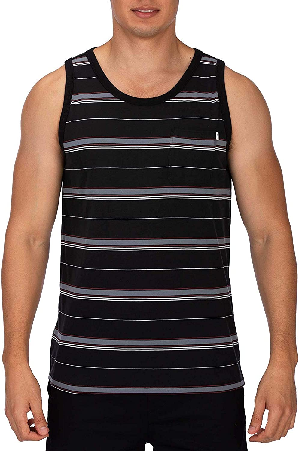 Hurley Mens One /& Only Graphic Tank Top