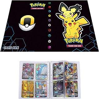 LSST Album de Stockage Compatible Cartes Pokemon, Classeur Compatible Carte Pokémon GX Mega et EX, Porte Compatible Cartes...