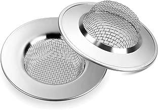 Anpro 2PCS Filtre à Évier Filtre de vidange en Acier Inoxydable de 7.7cm,Empêcher des Débris Obstrués pour Évier de Cuisine,Bain lavabo, Baignoires
