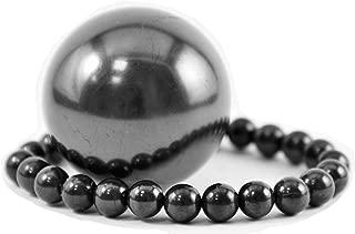 Karelian Heritage Regular Shungite Bracelet and Sphere Set for Crystal Root Chakra Balancing S009