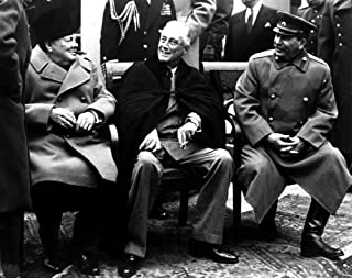 Winston Churchill Franklin Roosevelt and Joseph Stalin at the Yalta Conference Photo Print (10 x 8)