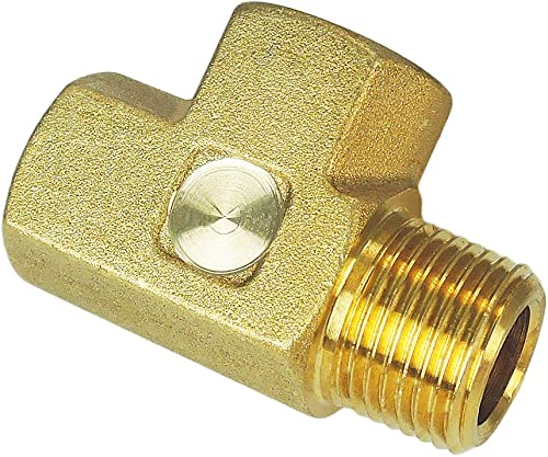 "Nigo Brass Pipe Fitting, Forged Brass Tee, 3-Way, NPT Female X NPT Female X NPT Male (1, 1/4"" x 1/4"" x 1/4"")"