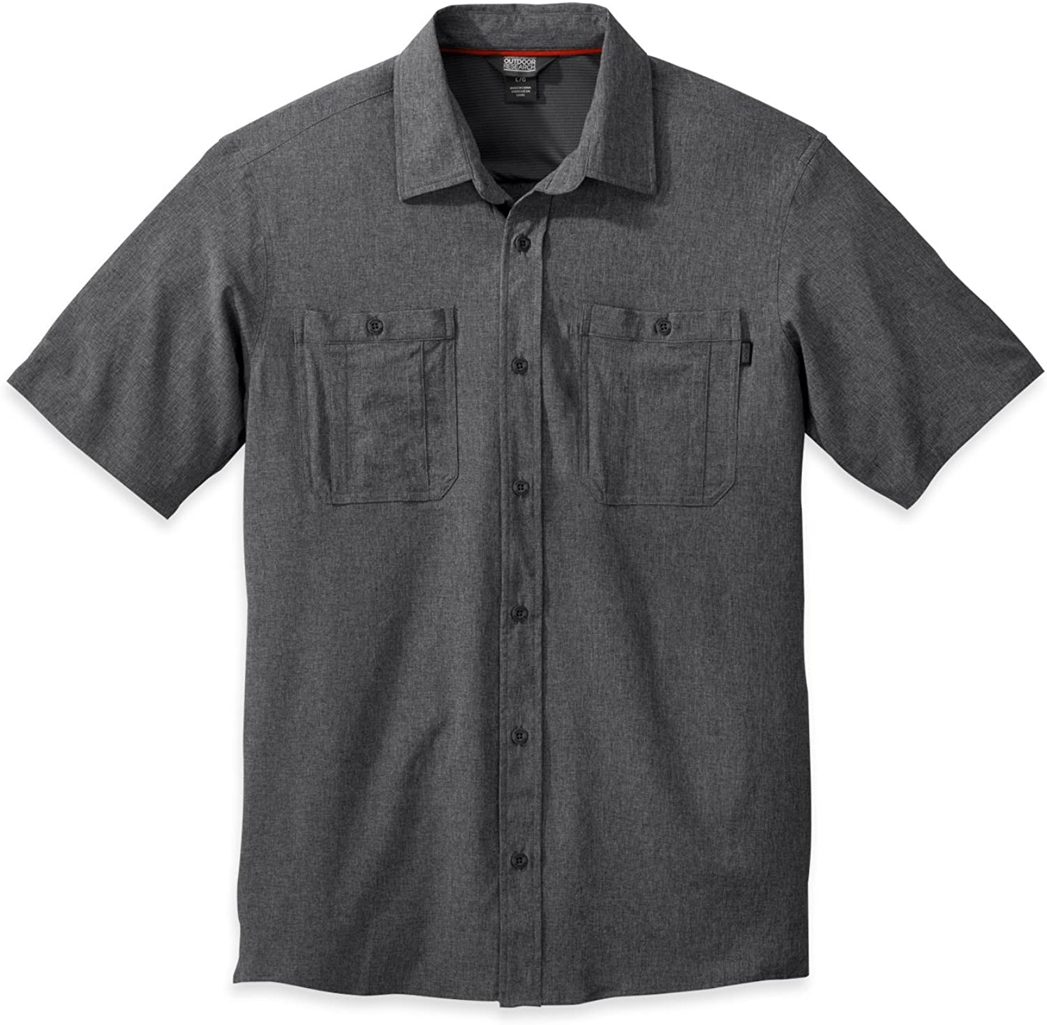 Outdoor Research Men's Wayward S S Shirt, Charcoal, Medium