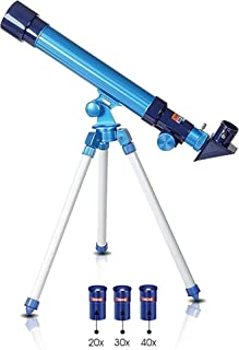ArtCreativity Telescope for Kids Set Includes 3 Magnification Lenses, Diagonal Mirror, and Tripod Stand - Easy to Focus - Great Children's Educational Science - Microscope Toy for Boys and Girls