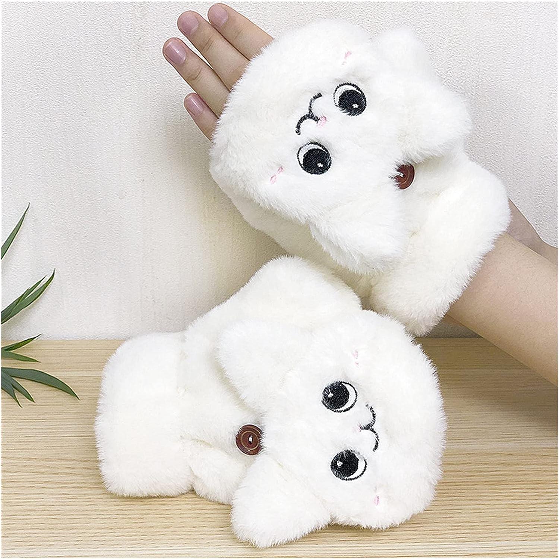 LANREN Women Winter Fingerless Gloves Warm Glove Winter Soft Thick Gloves for Women Girl Flexible Half Finger (Color : 1, Gloves Size : One Size)