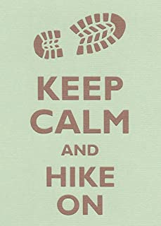 Rectangle Refrigerator Magnet - Keep Calm and Hike On Boot Print