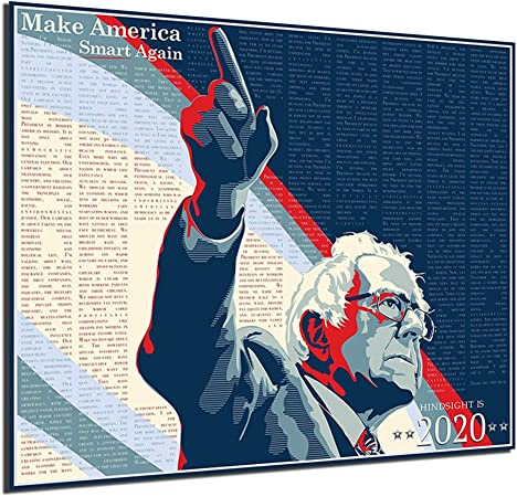Gift For Home Decor Wall Art Print Poster Bernie Arrested Sanders Poster