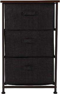 Fybida Meuble d'armoire en Tissu de Fibre synthétique Non tissé de Fabrication exquise pour Salon, Chambre à Coucher(Brown)