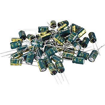uxcell Aluminum Radial Electrolytic Capacitor Low ESR Green with 680UF 35V 105 Celsius Life 3000H 10 x17 mm High Ripple Current,Low Impedance 30pcs