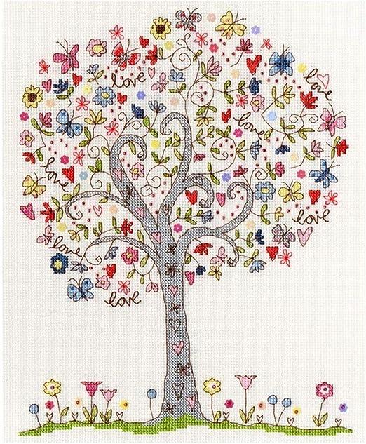 Bothy Threads Love Tree Cross Stitch Kit