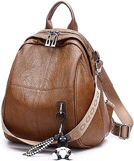 BUKESIYI Damen Tasche Rucksack Handtasche Frauen backpack Klein Anti Diebstahl Schulrucksack Laptop Weekender PU Leder CCD...